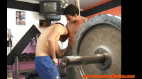 Latin Hunk Bareback Riding Cock In Gym
