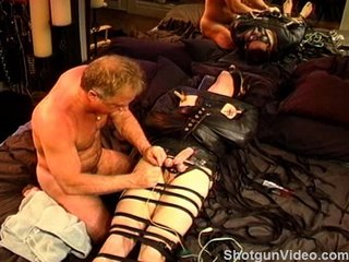 CBT Electrostim And Bondage For Beginner. Young Stud's 1st Time BDSM Session.