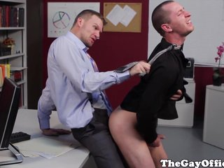 Gay Office Hunks Fucking On Their Desk