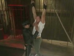 Guy With Tight Pants Tied Suspended In The Air Gettin Fucked In H