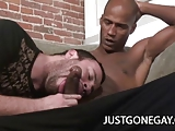 Horny Gay Ryan Starr Seduces A Black Cock