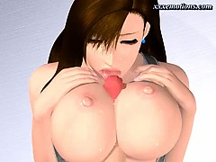 Kinky Animated Chick Rubs A Dick