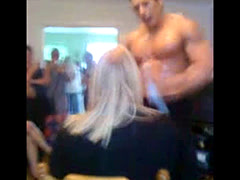 Mature Woman Humped By Buff Male Stripper At Home