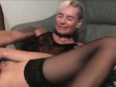 Blonde Small-tits Anal With Huge Dildo