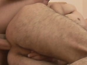 Hairy Cute Gay Gets Hard Barebacking