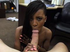 Ghetto Chick Pawns Her Muff And Banged For The Golf Clubs