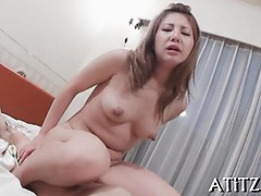 Big Boobs Asian Gets Toying Until Her Fur Pie Is Awfully Wet
