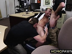 Frustrated Customer Fucked By Dudes