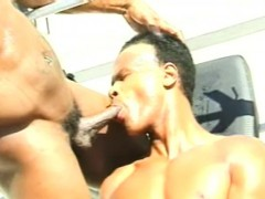 Muscled Black Stud Drills His Gay Lover's Tight Butt Under The Hot Sun