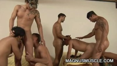 Sex Addicted Muscle Soldiers Anal Orgy