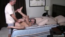 Creepy Old Man Seduced Sexy Straight Jock Into First Time Anal Bareback