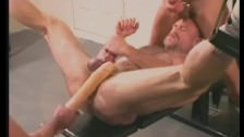 MUSCLEDAD GETS HIS MANKUNT USED AND ABUSED