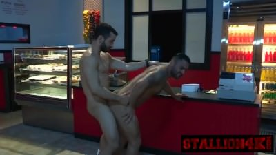 Lucky Stallion Gets Asshole Licked By Horny Stud