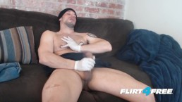 Allen Cole On Flirt4Free – Hunk W Latex Gloves And Nipple Fetish Jerks Hard