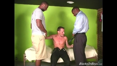 White Guy Deepthroating Huge Black Cocks