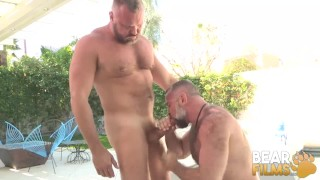 BEARFILMS Daddy Bear Thor Buckner Hammered By Tiger Pounce Bareback