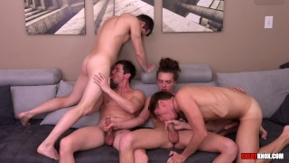 Hot 4 Way With Troy Accola And Some Sexy Smooth Boys!! BAREBACK