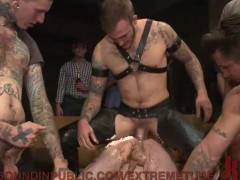 Brutal Public Gangbang For The Birthday Stud