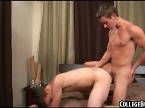 Horny Amateur College Hunk Getting Fucked Anally