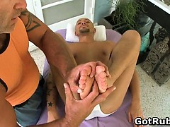 Hot Guy Get His Amazing Body Massaged Part4