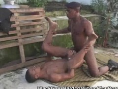 Black Dude In Beret Fucks And Cums On His Mate