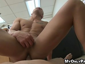 Hot Tattoed Guy Gets A Hard Cock In His Tight Ass