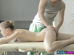 Slutty Teen Aroused During Massage