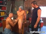 Horny Guys Have Sex In The Garage