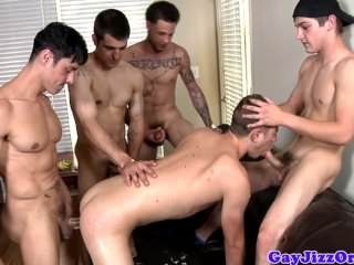 Alexander Greene Plays With Four Cocks