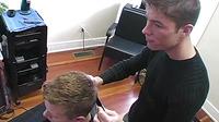 Gay Hairdresser Fucking His Jock Customer