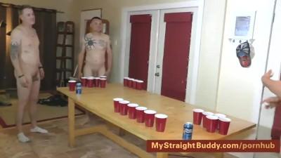 Straight Marine Buddies Naked Beer Pong