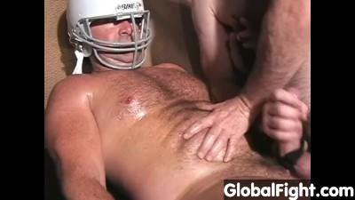 Carolina Jim Hairy Musclebear Daddy Masterbating Jackoff Football Coach