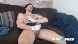 Allen Cole On Flirt4Free – Hunk W Latex Gloves And Nipple Fetish Jerks Hard