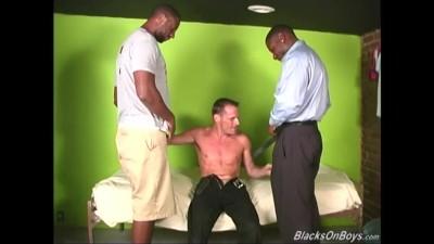 White Guy Deepthroating Huge Black Cocks