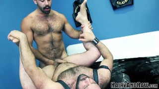 HAIRYANDRAW Muscular Teddy Torres Pounds Sub Mathieu Angel