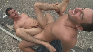 GAYWIRE – Roof Top Anal Sex With Santiago & Mario