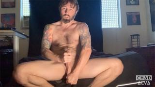 Bearded Scandinavian Man Chad Alva Jerks His Greasy Cock In Hot Solo