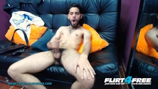 Dane Tatum On Flirt4Free – College Latino Hunk With A Big Cock Cums On His Lean Hairy Body