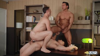 Men Com – Ass Fucking With Hot Dudes Michael Boston, Reese Rideout And Collin Simpson