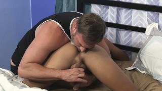 Latin Boy Serves His Ass Up To Dady As A Hearty Breakfast