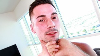 Hot Bar Tender Is Nervous To Get Fucked Rough By Daddy Casting Agent
