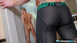 Tattooed Ginger Bennet Anthony Pounds His Roommates Big Ass