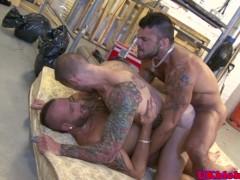 British Tattood Jock Double Penetrated