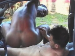 Fucked By A Big Dick In His Car