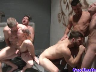 Muscular Hunks Enjoying Fuck