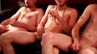 Straight Group Jerking Cocks And Smoking
